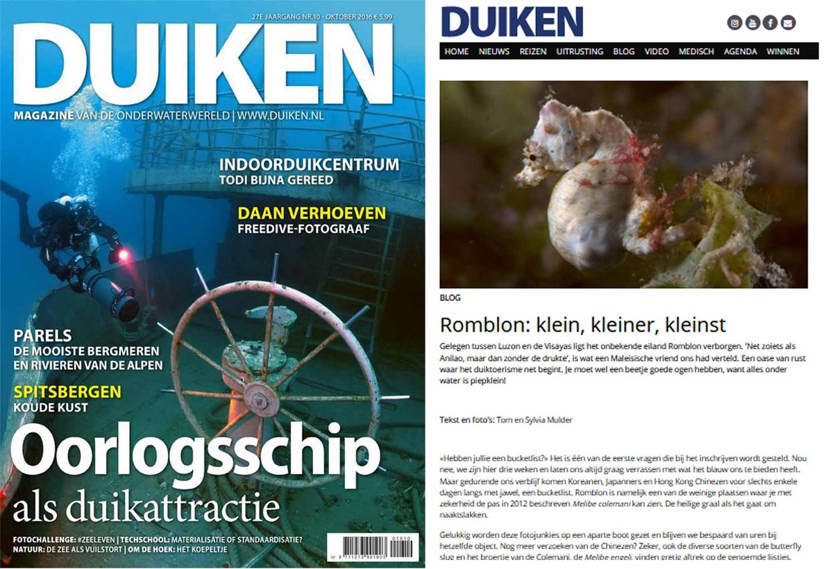www.the-three-p.com-romblon-island-underwater-macro-photography-scuba-diving-philippines-publications-duiken-magazine-cover